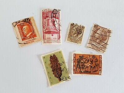 Italiano Hellas Stamp Posted Postmarked Lot 20 60 100 6