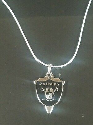 Oakland Raiders Necklace Pendant Sterling Silver Chain NFL Football