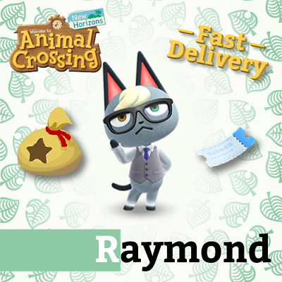 Raymond + 400nmt Villagers Animal Crossing New Horizons  or +20crown and 200nmt