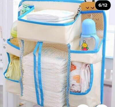Diaper Bedside Organizer Hanging Shelf 8 Compartments