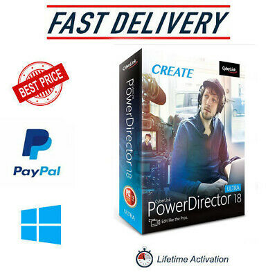 Cyberlink PowerDirector 18 ✔️Full Version✔️LifeTime✔️multilingual✔️Windows✔️