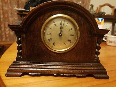 Antique  Beautifully Carved wooden mantle clock