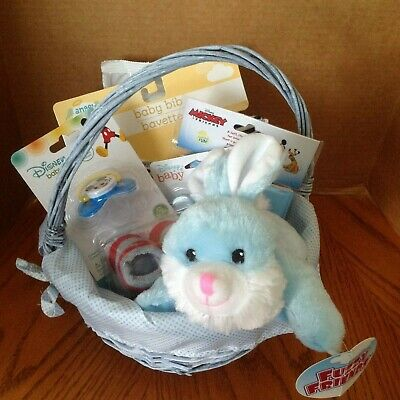 Welcome New Baby - Baby Shower Gift Basket - Baby Boy