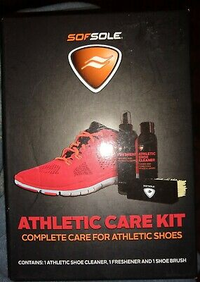 Sof Sole Sneaker Care Kit Shoe Cleaner Cleaning Kit Freshener & Brush NEW SEALED