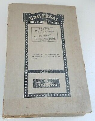 GAMBLES Grocery store Price TAGS Marking System Binder Universal rare loaded