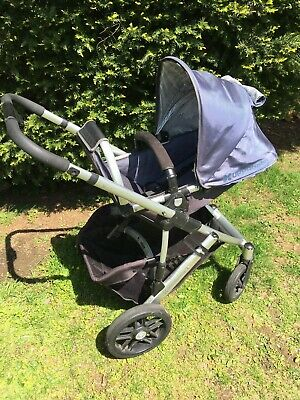 UPPAbaby Vista Stroller with Accessories in Slate Blue (Cole)