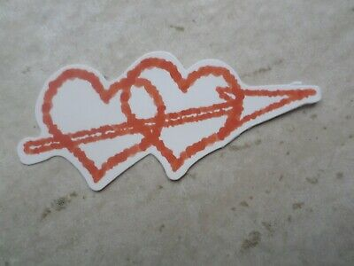 Quality Love Hearts Sticker Banksy Skateboard Santa Cruz Supreme Vans Stussy