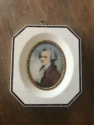 ANTIQUE  LATE 19th CENTURY FRAME MINIATURE PORTRAIT OF WOLFGANG MOZART