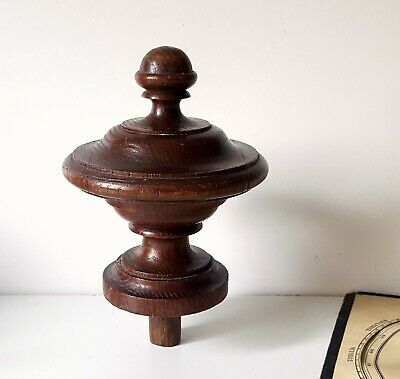 Antique wooden finial Post cap Pole end Architectural salvage Furniture 5.43""