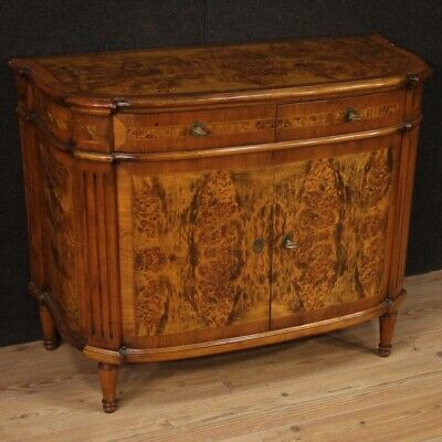 Cupboard Furniture Dresser Wooden Walnut Briar Antique Style For Living Room 900