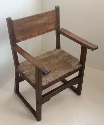 Antique Spainish Throne Chair Form The Late 18th/Early 19th Century In Solid Oak