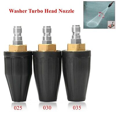 High Pressure Washer Rotating Turbo Nozzle Tip 3600PSI 1/4 Quick Connector UK