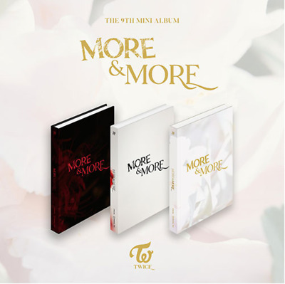 "TWICE New 9th Mini Album "" MORE & MORE "" Official 3 SET - 3 Photobook + 3 CD"