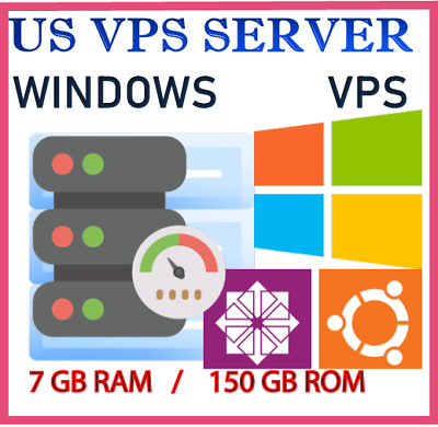 USA VPS Accounts - WINDOWS 10 RDP SERVER 2020 / VPS SERVER 7 GB RAM + 255 GB SSD