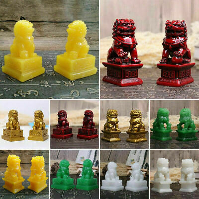 1pair China Fengshui 5 Color Jade Hand-Carved Statues 2020 X3X9 Gift Dog Fo R0V2