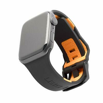 UAG Apple Watch 44mm 42mm, Series 5/4/3/2/1 Silicone Band Civilian [Black/Orang