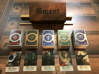 GWENT CARDS (5 DECKS) 460 Cards Witcher 3 FULL SET with BOX!