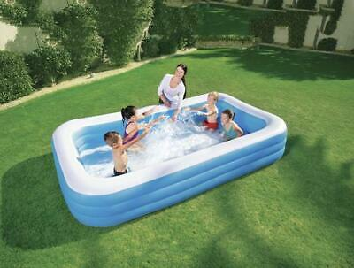 H2OGO!™ Inflatable Pool - Deluxe Blue Rectangular Family Pool - Free Shipping!
