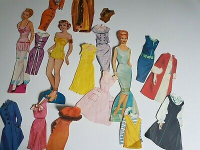 1950s or 60s Paper Doll Set Vintage