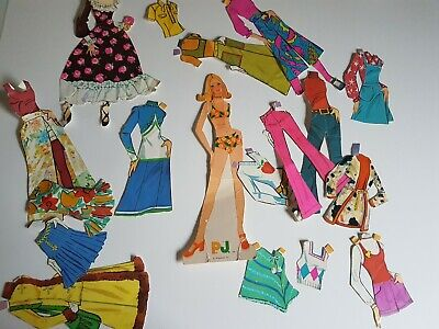 PJ Mattel 1972 Paper Doll Set Vintage Lot