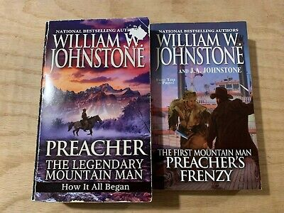 Lot of 2 William W Johnstone Westerns-The First Mountain Man-Preacher's Series