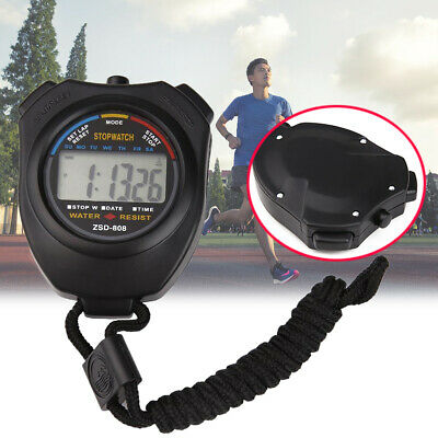 LCD Chronograph Sports Counter Stopwatch Handheld Timer Alarm Digital Stop Watch