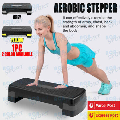 Aerobic Exercise Step Stepper Riser Workout Cardio Fitness Bench Block AU STOCK