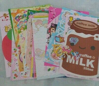 Mystery San-x q-lia KAMIO  KAwaii sticker flake MEMO stationary sanrio lot 105