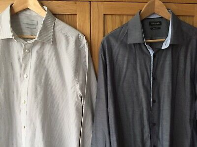 Red Herring RRP £25 each 2 x 15 .5 Collar  Easy Care Slim Fit Shirt /& Tie Set