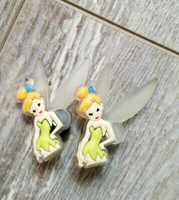 2  X  Light Green Tinkerbell Shoe Charm Pvc Rubber