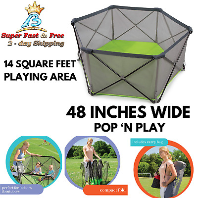 Portable Playard Pop N Play Baby Playpen Indoor Outdoor Toddlers Safety Easy Use