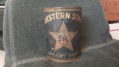 Western Star Tomatoes Tin Can Indian Chief Appleby Fayetteville Arkansas Coffee
