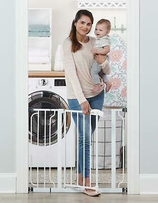 Regalo Easy Step 38.5-Inch Extra Wide Walk Thru Baby Gate, Includes 6-Inch Exten