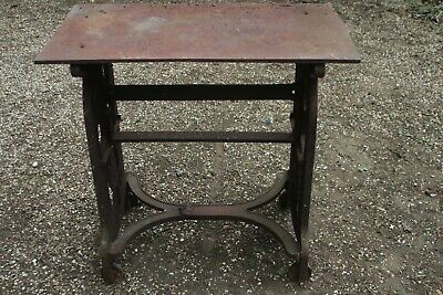 "Edward VII cast iron table 33"" high rusty well used."