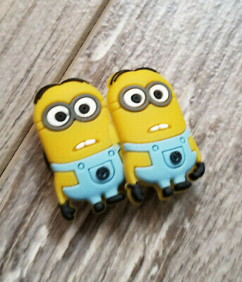 2  X  Minion-B Shoe Charm Pvc Rubber