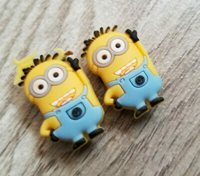 2  X  Minion-A Shoe Charm Pvc Rubber