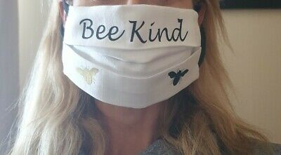 Face mask cover. Handmade.bee kind, Filter pocket cotton. Fabric