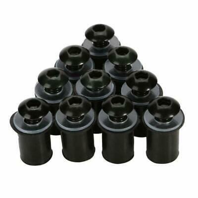 Pack of 10  motorcycle fairing screen well nuts BLACK 5mm 6 colours