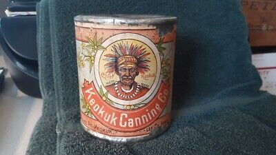 Chief Keokuk Canning Co. Tomatoes Tin Can Lee County Iowa Chief Very Early