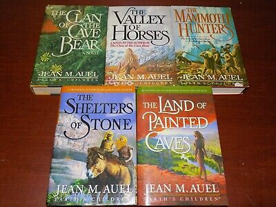 Lot of 5 Earth's Children books by Jean M. Auel HB BCE