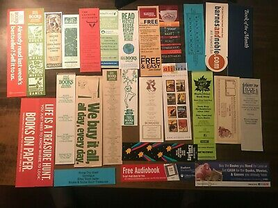 Lot of 18 Bookstore Paper Bookmarks