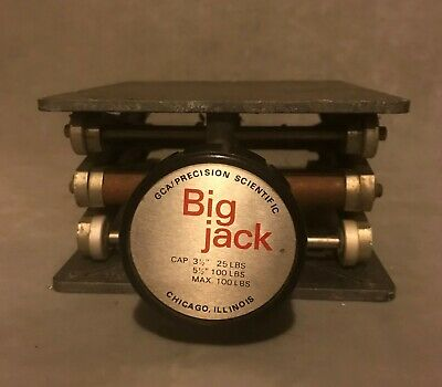 "GCA Precision Scientific Big Jack Lab Jack; 6 x 7"" Platform, Extends to 12"" High"