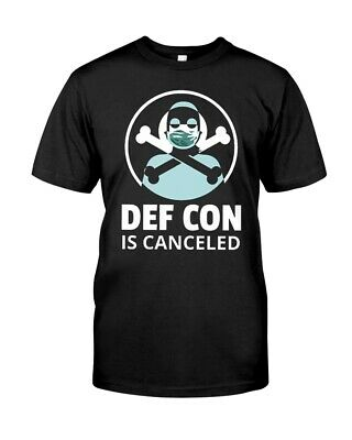 DEF CON is Canceled MASKED FIGURE T SHIRT Size S-5XL