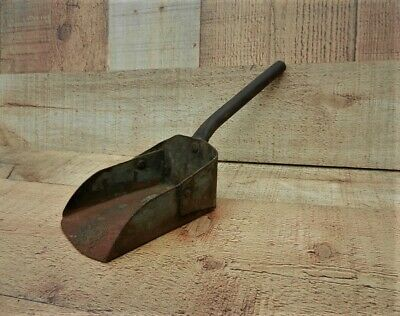 Antique Hand Forged Iron Grain Feed Scoop Primitive Farm Tool 1800's