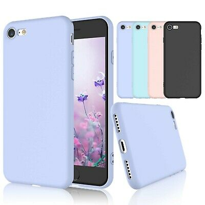 For iPhone SE 2020(2nd Generation) 8 7 Silicone Case Cover with Screen Protector