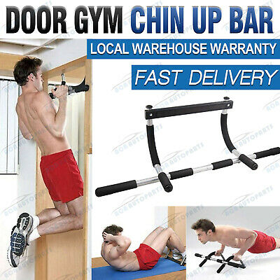 Door Pull Chin Up Bar Portable Upper Body Gym Workout Home Doorway Exercise AU