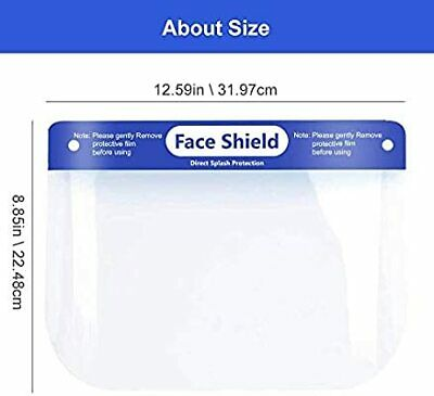 FULL FACE SHIELD Medical Dental Clear Cushion Cover Protector -SHIPS FROM ATL