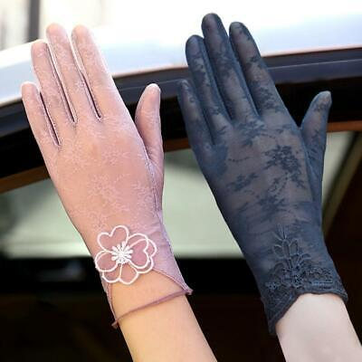 Gloves Women Summer Sun UV Protection Ladies Short Lace Driving Gloves Formal