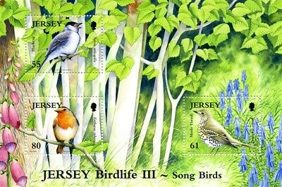 Jersey 2009 Song Birds 3 Miniature Sheet Of 3 Commemorative Stamps Mnh