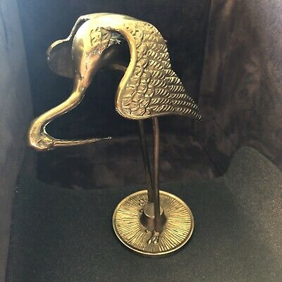 Brass Long Legged Bird Figurine Pelican? Heron?
